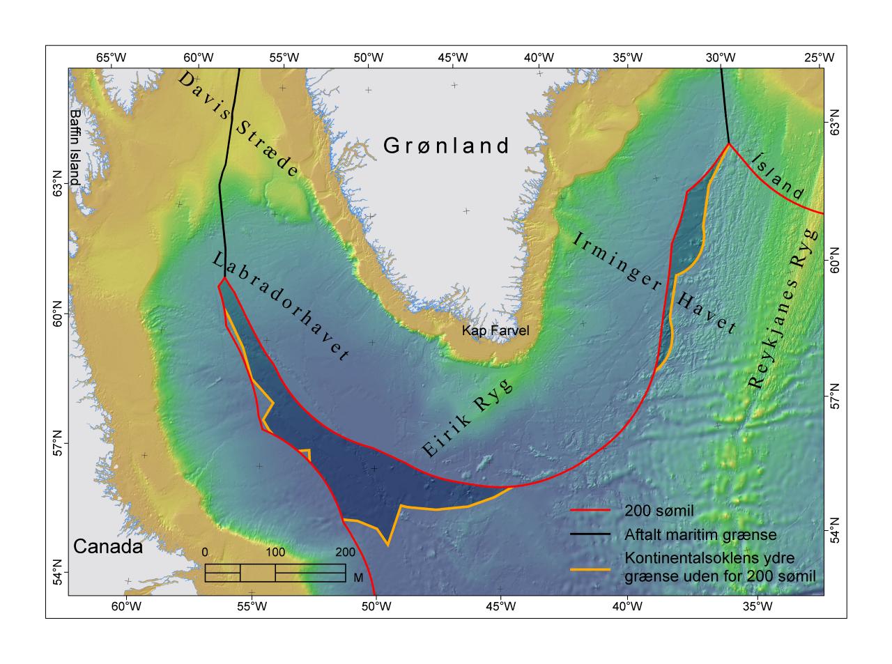 Området syd for Grønland
