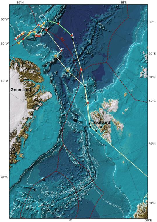 LOMROG I ekspeditionens rute