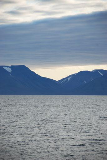 Vi nærmer os Svalbard. Foto: Daniella Gredin