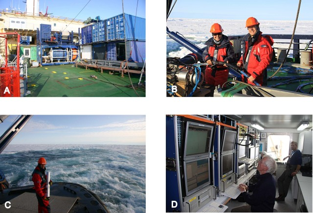 Vi arbejder med det seismiske udstyr